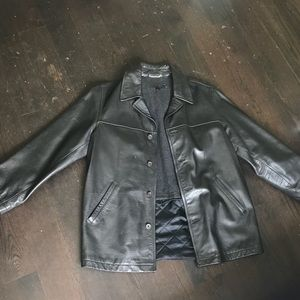 J crew real black leather jacket, great condition